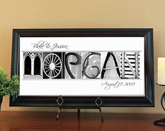 Wedding Gift - Housewarming Gift - Alphabet Photo Letter Art by Memories in a Snap