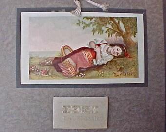 Charming 1921 Era Calendar with Little Gypsy Girl