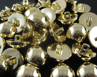 Gold Domed Plastic Shank Buttons (4 Sizes)