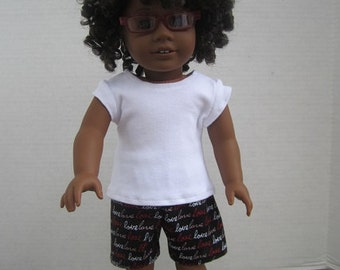 "Summer Pajammas for 18"" Doll"