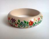 handpainted WOOD bracelet