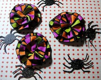 Halloween Scrapbook Flower Embellishments