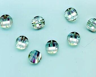Twelve rarest-of-the-rare vintage Swarovski crystal pagoda beads: Art. 5107R - 10 mm - effect color vitrail light