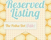 Reserved Listing for WeeEssentials