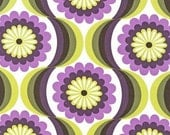 Robert Kaufman - Auntie's Attic - Daisies - Purple - Cotton Canvas -Choose Your Cut 1/2 or Full Yard