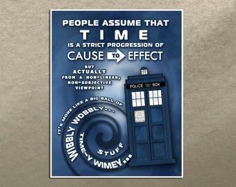 Wibbly Wobbly Timey Wimey 11x14 Digital Poster