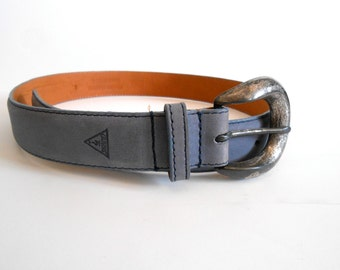 Vintage Guess Belt Genuine Leather Size Small.Hippie Boho Gypsy Festival Adjustable belt Unisex Gift. Unique Gift. Small FREE SHIPPING