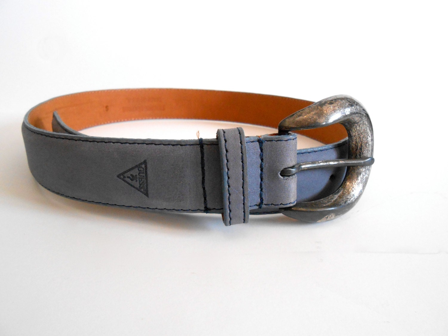 vintage guess belt genuine leather size small hippie boho