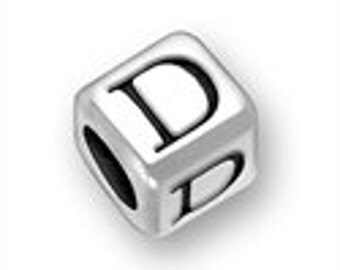 Sterling 4.5mm Rounded Alphabet Bead - Letter D