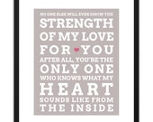 Printable Art Strength of My Love for You 8x10