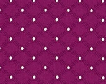 "Michael Miller Lattice Eyelet Embroidered Fabric in Jewel Magenta - 54"" wide - Great for Dresses - 1/2 yd, Additional Avail - ET6345-JEWE-D"
