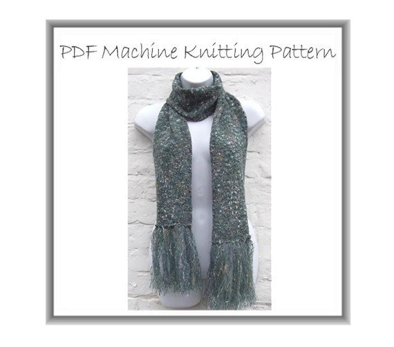 Knitting Machine Scarf Pattern : Lacy Mohair Scarf Pattern Easy Machine Knitting PDF