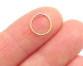14K Rose Gold Filled Nose Ring, Cartilage Hoop Earring, 20 Gauge Nose Hoop, Helix Piercing Hoop, Daith Hoop, Rook Earring, Tragus Hoop