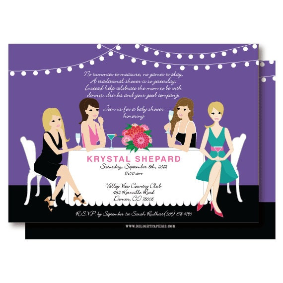 non traditional cocktail baby shower invitations wine before whine