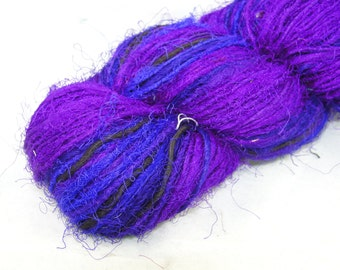 Recycled Sari Silk Yarn Purple