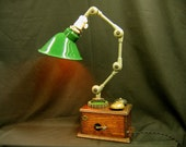 Diabolical Box 102 Desk Lamp Mad Scientist Steampunk Victorian Science Fiction Working Bells