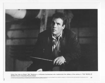 Vintage 1991 Robert Davi 8x10 Black and White Photograph - Studio Promotion - The Taking Of Beverly Hills