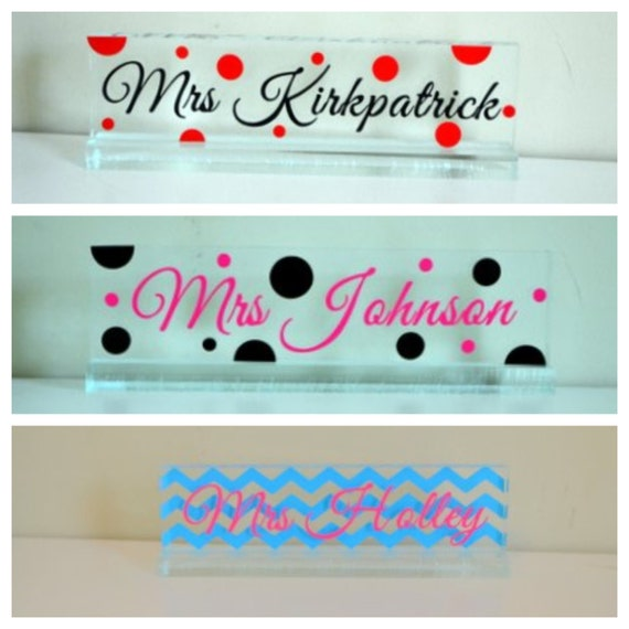 Personalized Acrylic Desk Name Plate