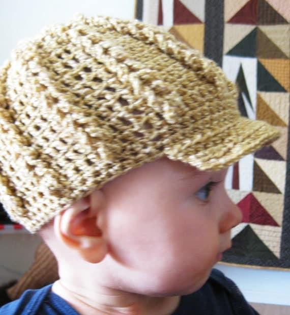 crochet hat with brim instructions