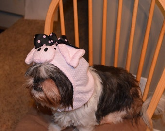 Halloween/Dress up Pig Dog Costume Hood ONLY