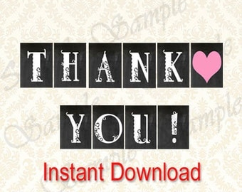 Thank You Banner, Printable Favor Table Banners, Gift Table Decoration, Diy Party Decor, Special Occasion Banners