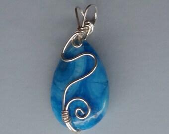 Blue Jasper Teardrop Pendant