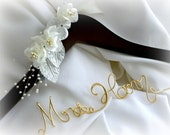 Wedding Hanger With White Or Ivory Flowers