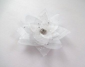Snow White Organza Flower Embellishment/ Limited Edition