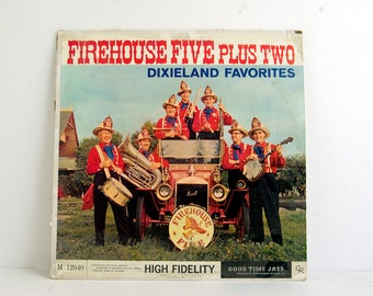 Vintage Vinyl, Firehouse Five Plus Two Record, Dixieland Album, Vintage LP, Firehouse 5 Plus 2