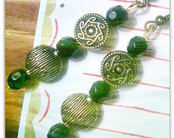 Brass Aztec Tribal Earring