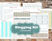 SALE!!!  Blogging Kit [Printable Planner] | 11 Documents INSTANT DOWNLOAD