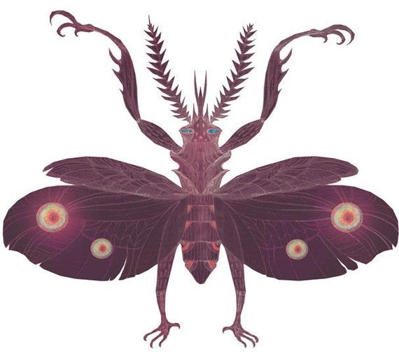 Praying Mantis - A4 giclee print
