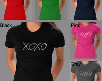 Women's T-shirt - Created using the words Hugs & Kisses XOXO