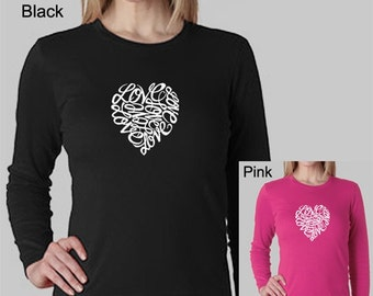 Women's Long Sleeve Shirt - Created using the word Love