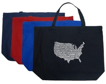 Large Tote Bag - Created out of lyrics to The Star Spangled Banner