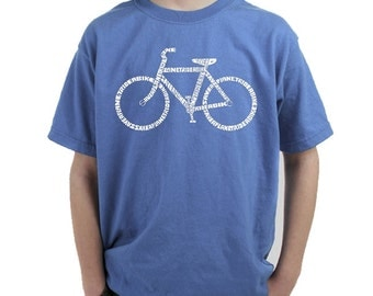 Boy's T-shirt - Created using the word Save a Planet, Ride a Bike