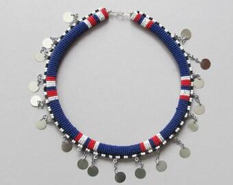 Hand Beaded Necklace from the Samburu Women of Unity Village, Kenya