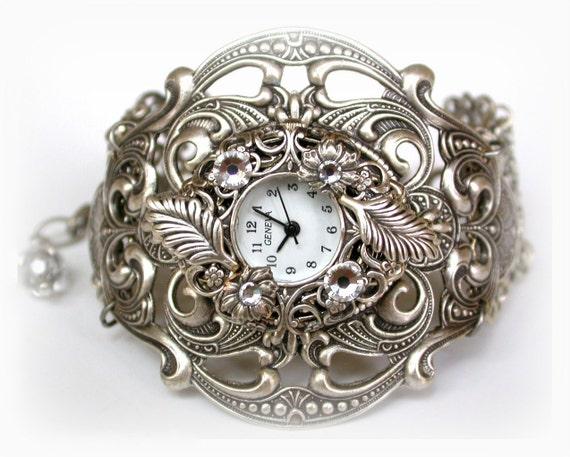 silver unique watches steunk