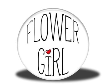 """Wedding Party Title - 1"""" Button - Flower Girl"""