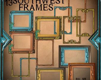 Digital Scrapbook Southwest Frames