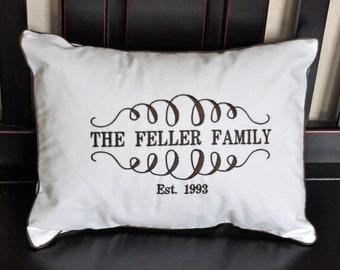 Family Name Pillow  P001