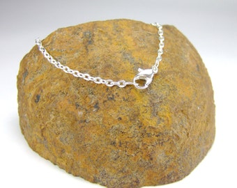 Silver Plated Oval LInk Chain custom length Silver Oval Link Necklace