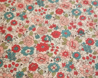 Floral Fabric, YUWA Live Life Collection, Lawn 60, Japanese Floral Fabric, floral bouquet, floral print fabric