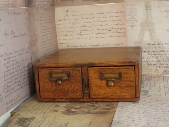 Wooden Library Furniture ~ Antique library card catalog wooden by