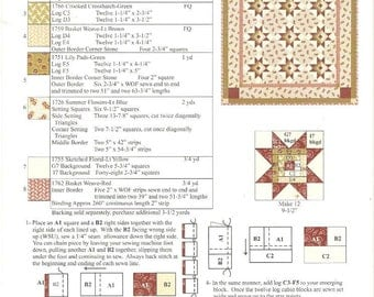 Country Log Cabin Stars QUILT KIT