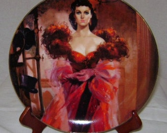 "Gone with the Wind Golden Anniversary ""Scarlett's Resolve"" Commemorative Plate"