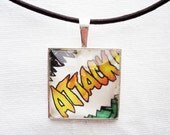ATTACK glass pendant necklace