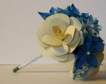 Bridal Bouquet - Paper Flowers - Kusudama - Made to Order