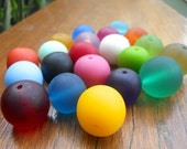Mixed Bag 21 x  20mm resin ball assorted colours