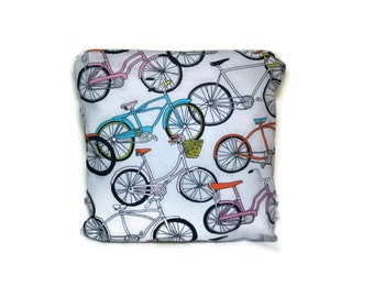 bicycle gray bikes wet bag waterproof cloth diaper zipper medium swim bathing suit pool beach colorful